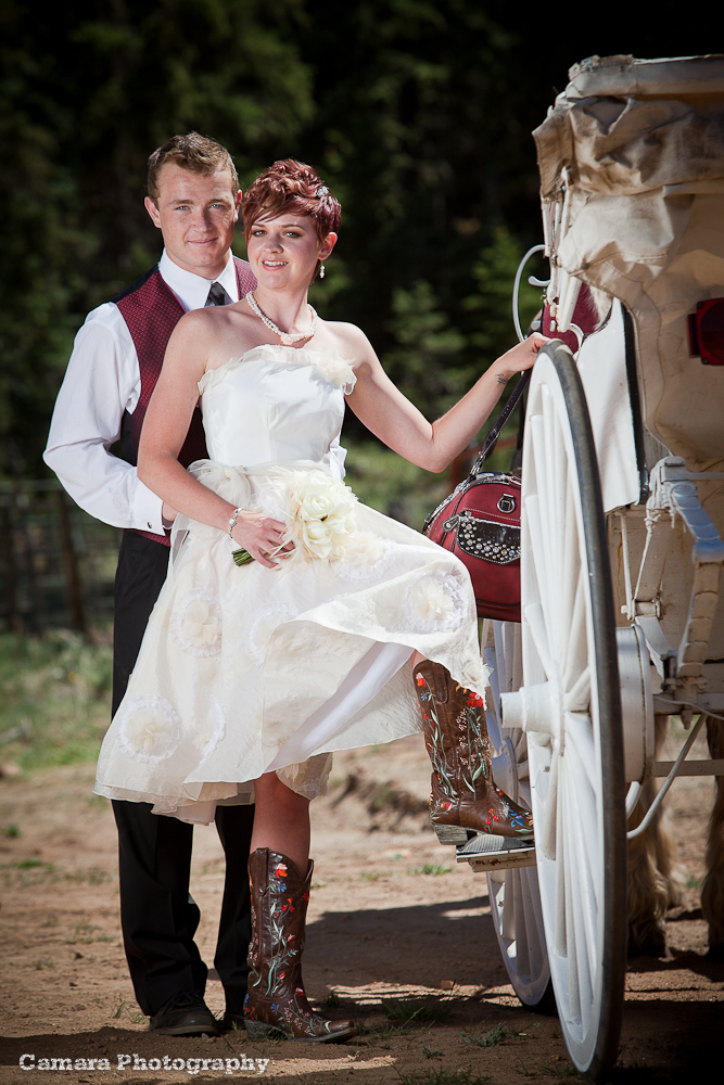 Wedding Dress With Cowgirl Boots