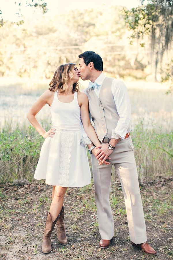 Short Wedding Dresses Worn With Cowboy Boots - Wedding Dresses Asian