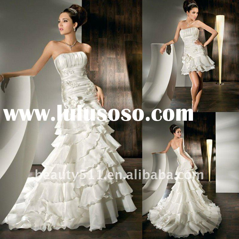 Detachable train for wedding dress for Short wedding dress with removable train
