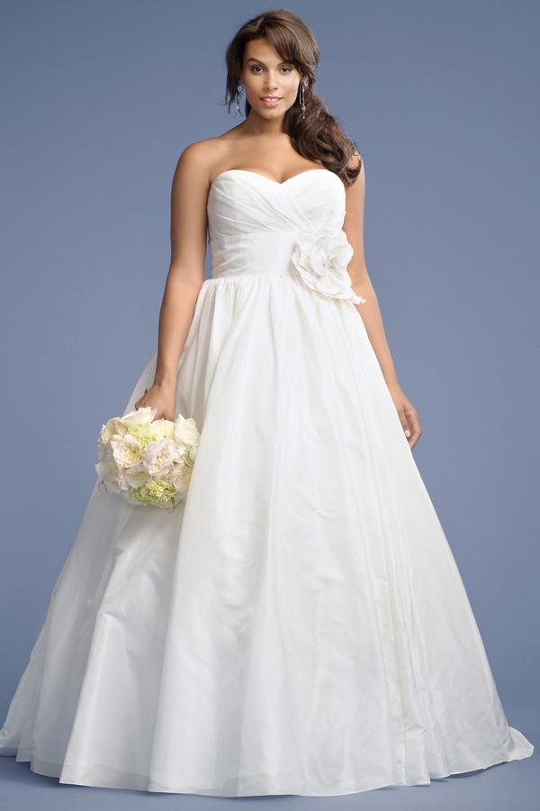 Strapless Taffeta Wedding Dress