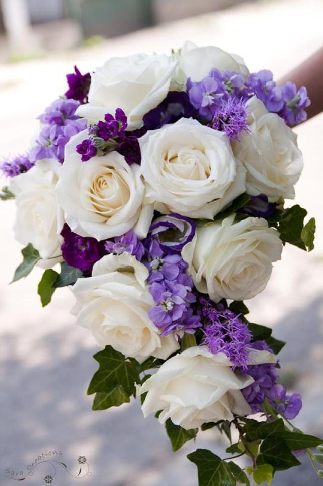 Purple Wedding Flowers Pictures