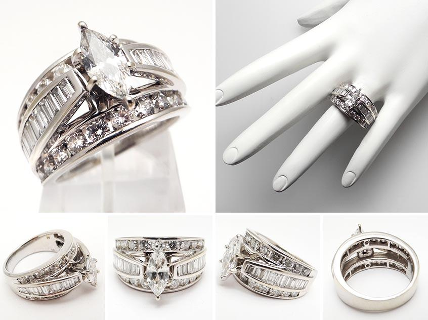 stunning wedding rings wedding bands for marquise engagement ring - Marquise Wedding Rings