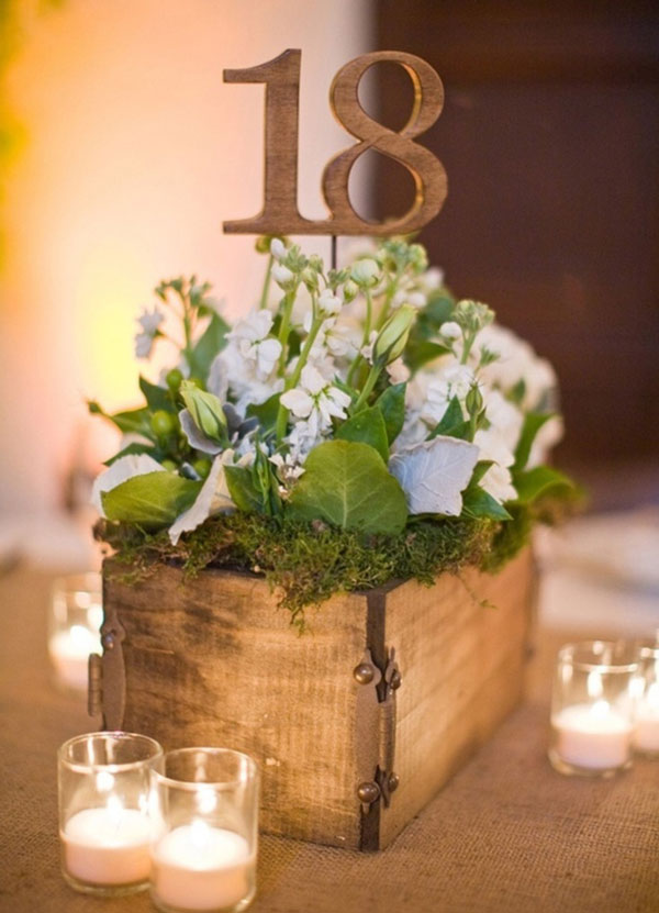 Wooden Crate Wedding Centerpieces Ten Unique Rustic