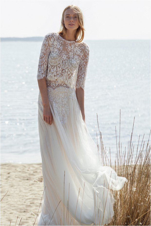Bohemian style wedding dress the costarellos bride romantic chic wedding gowns for the junglespirit Choice Image