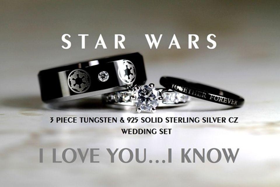 Star wars wedding rings for sale