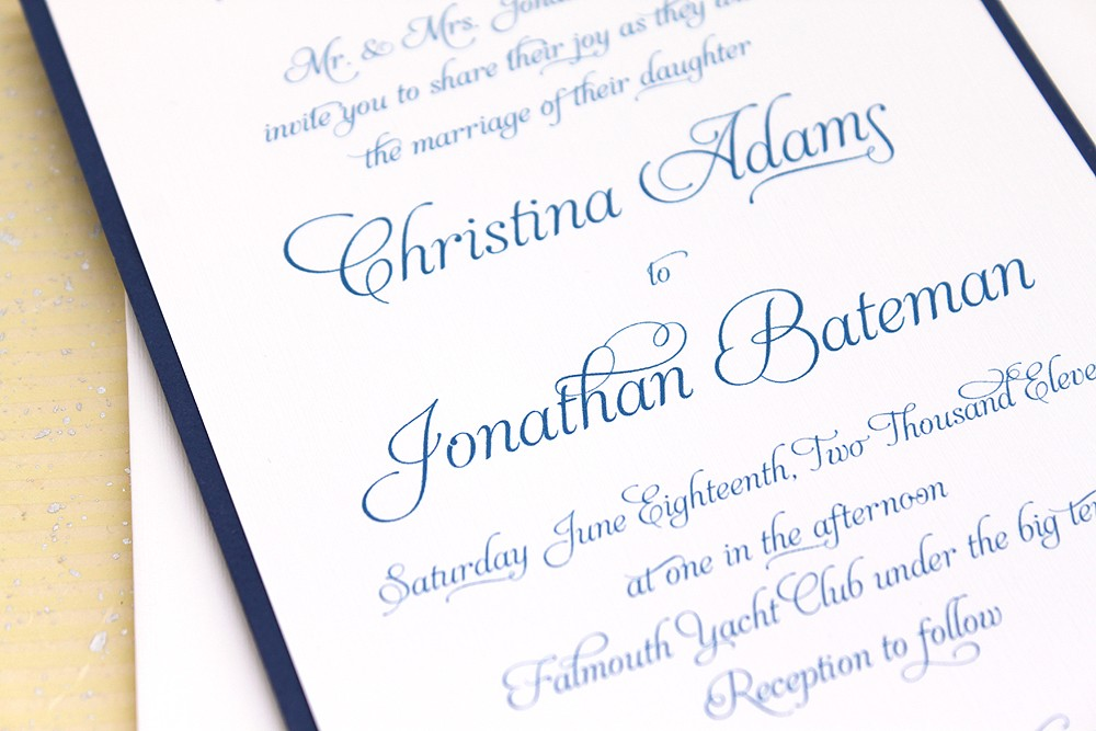 Wedding Invitations Example Text: Traditional Wedding Invitations