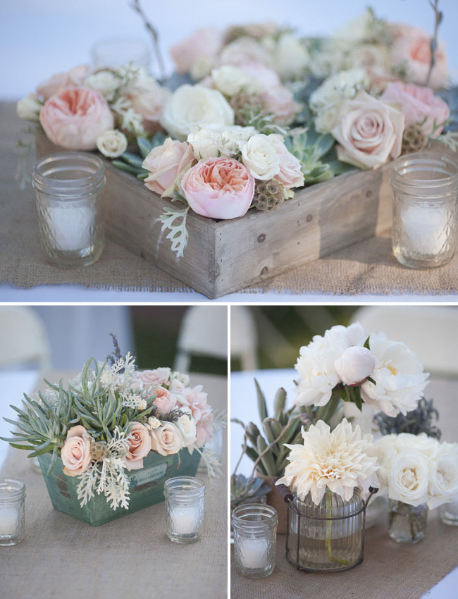 Vintage table decorations for wedding
