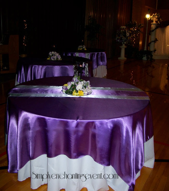 Lilac Table Decorations Wedding Tables Lilac White And Silver
