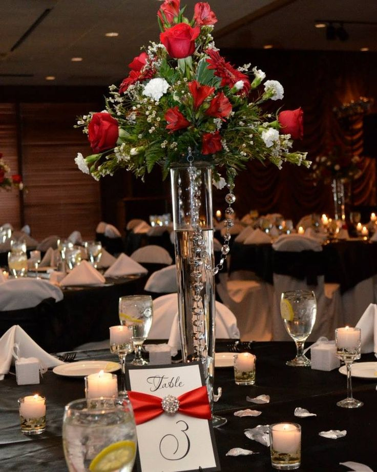 White Silver And Red Wedding Theme Choice Image Wedding Decoration