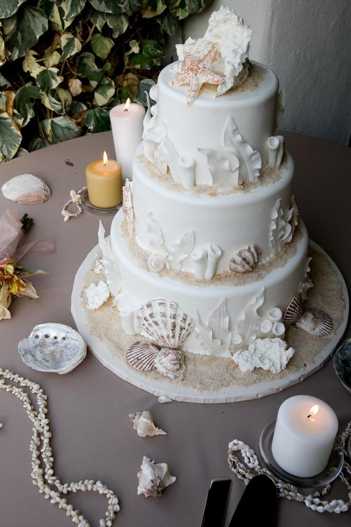 Wedding Cake Beach Themed Entrancing Beach Themed Wedding Cake ...