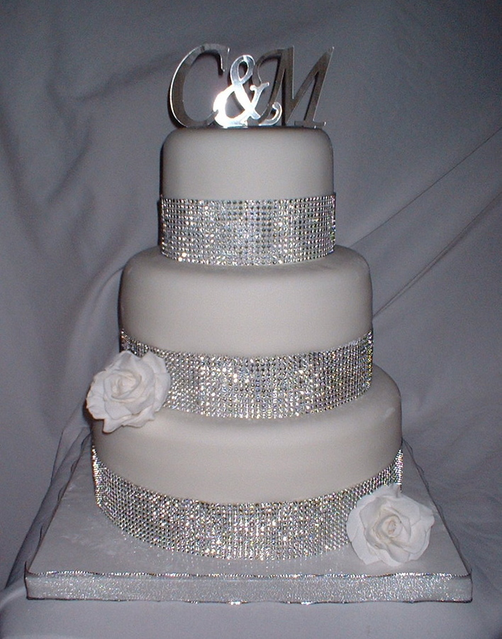 blingy wedding cakes blingy wedding cakes 11940
