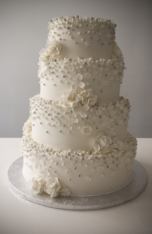 Wedding Cakes With Flowers And Pearls Emasscraft Org