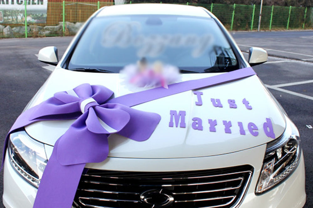Wedding car decorations for Automotive decoration