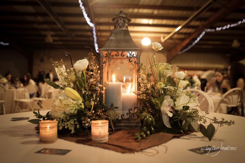 Lantern centerpiece wedding