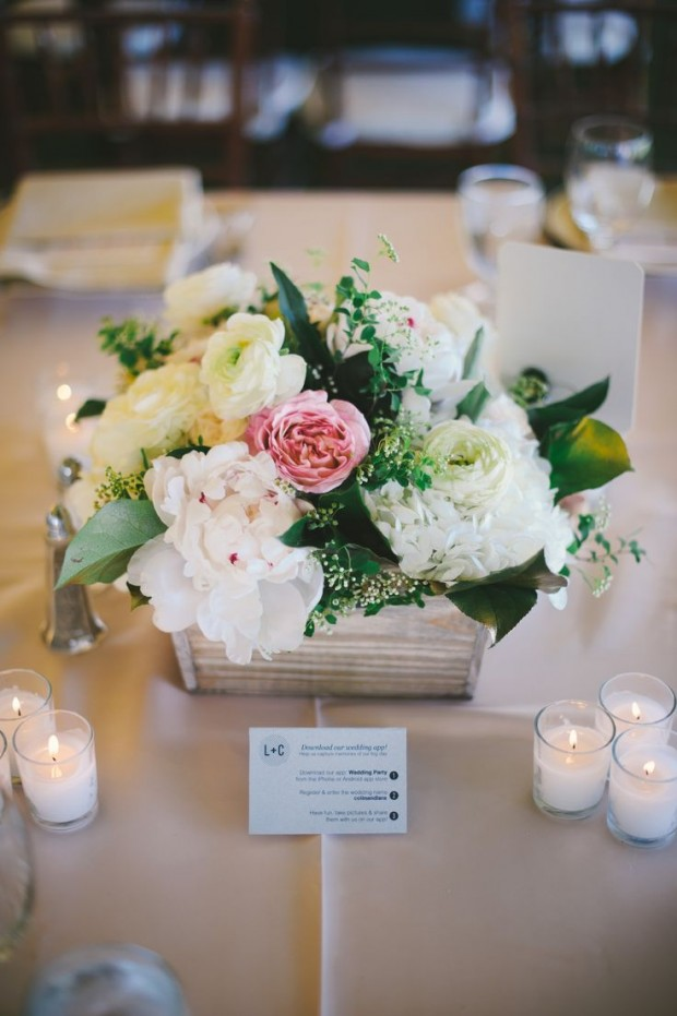 Wedding Centerpieces Wooden Box