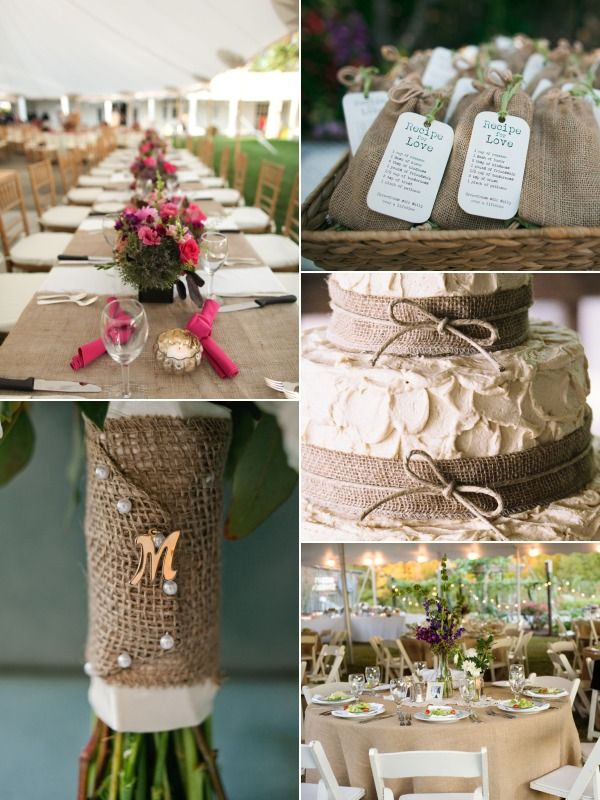 Wedding Ideas Using Burlap