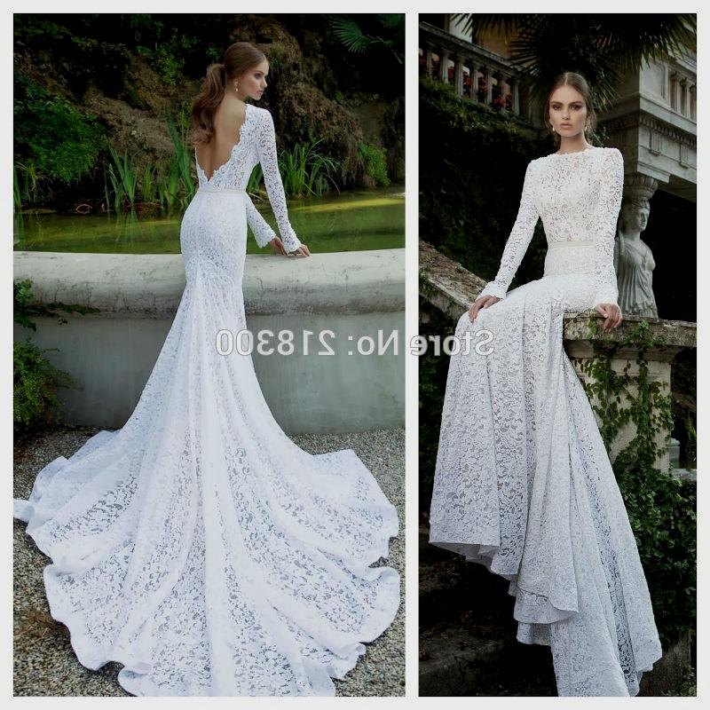 Simple Long White Dress With Sleeves Naf Dresses: Long Sleeve Open Back Wedding Dress