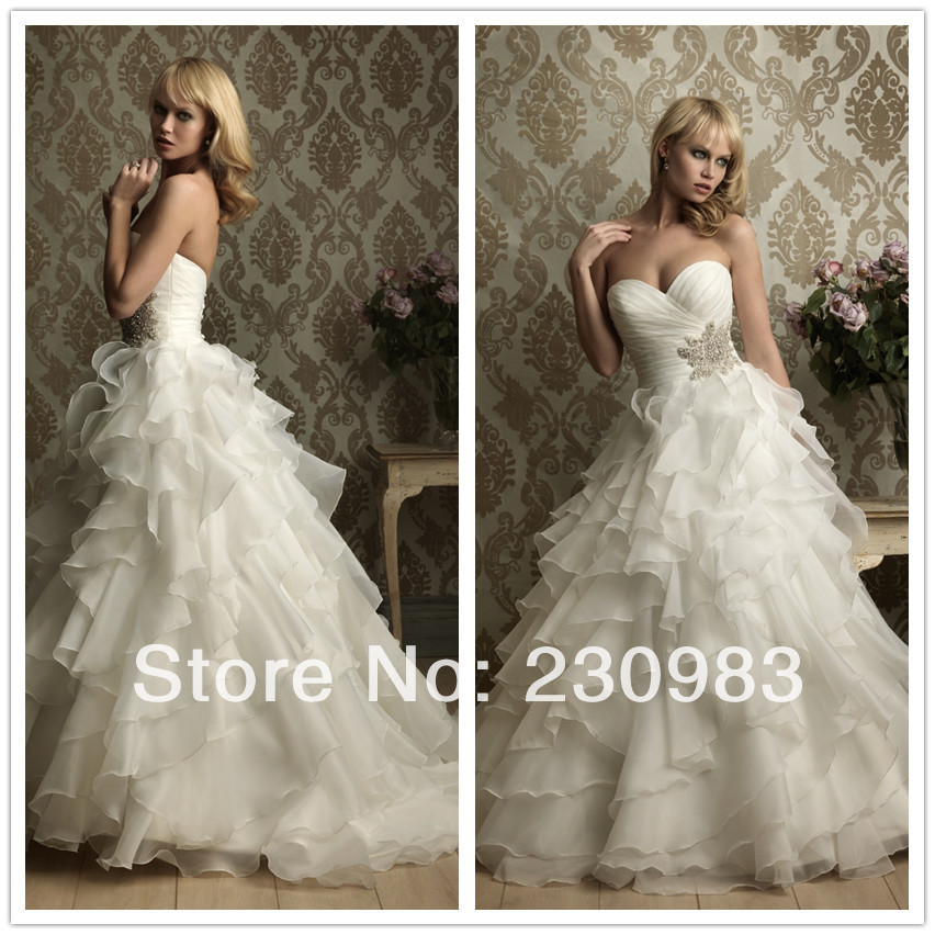 Wedding dress with ruffles at the bottom for Wedding dresses with ruffles