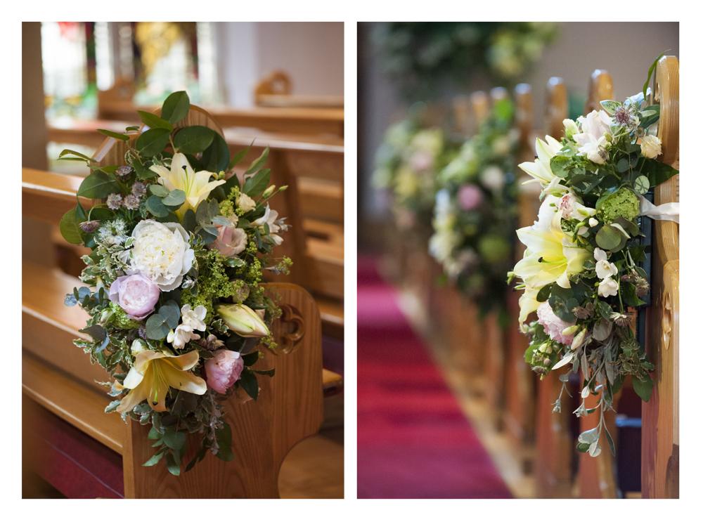 Wedding flowers church pew ends junglespirit Gallery