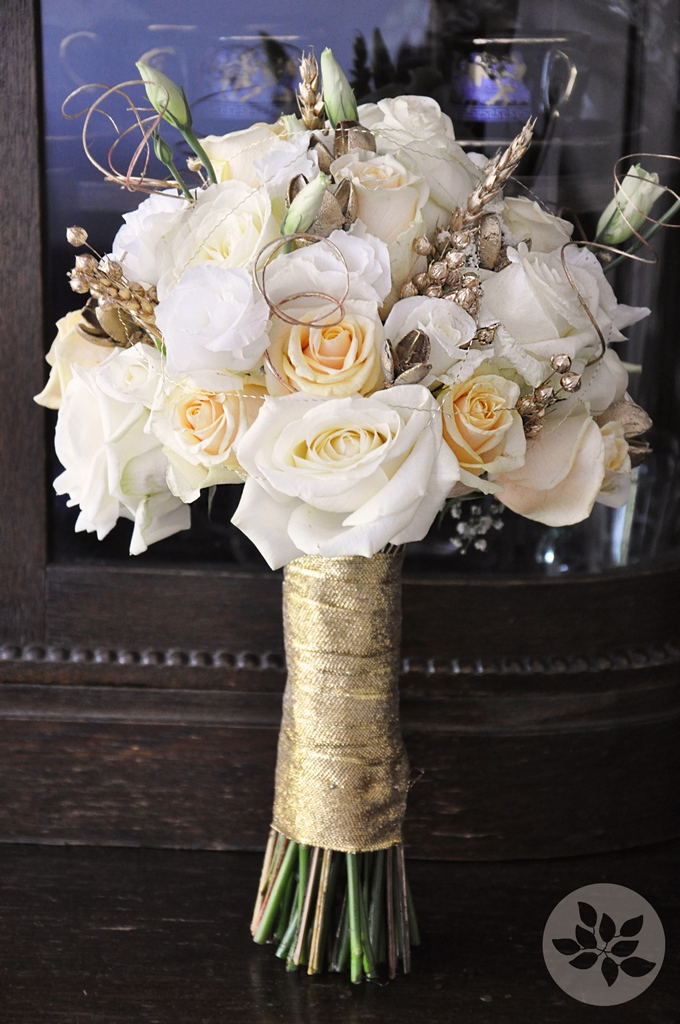 White and gold flower arrangements new house designs white and gold wedding bouquets mightylinksfo