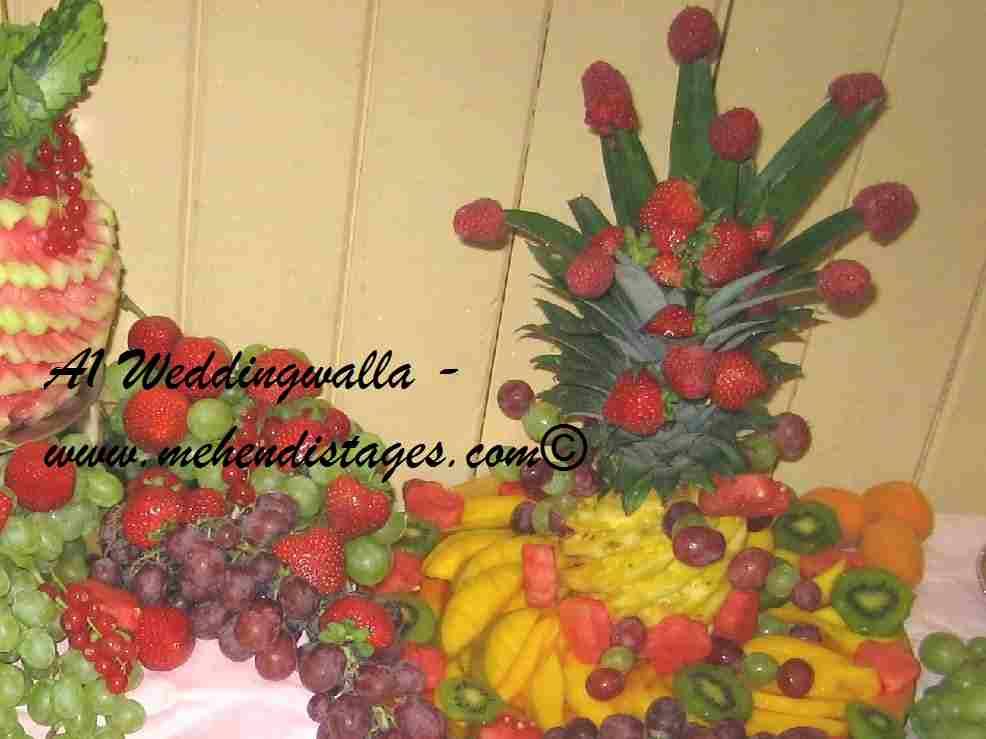 Mehndi Fruit Decoration : Wedding fruit decoration