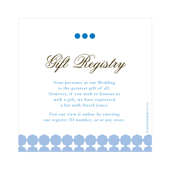 Wording For Wedding Gift Registry – Gift Registry Cards in Wedding Invitations