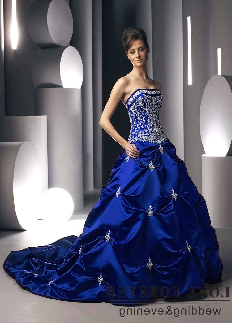 royal blue wedding dresses royal blue wedding dress 7161
