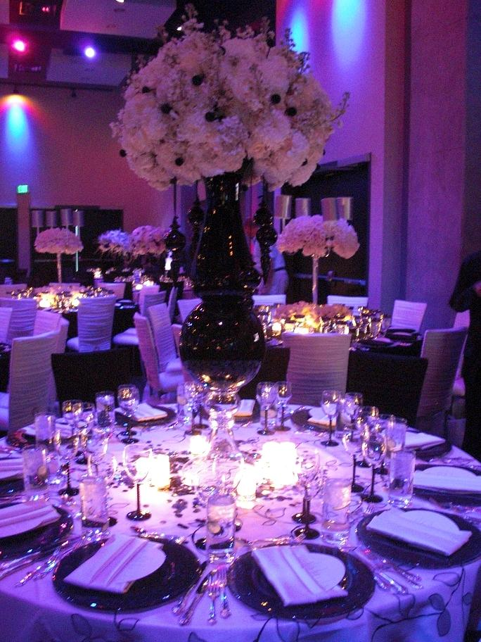 Black And Purple Wedding Decoration Ideas