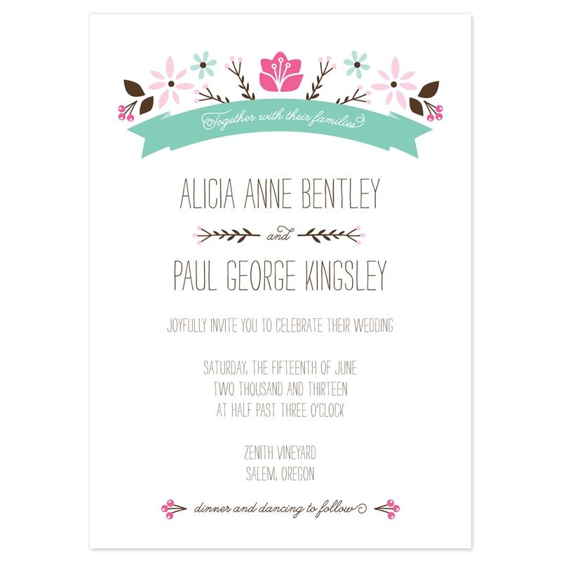 Wedding Reception Invitation Wording Ideas: Casual Wedding Invitations