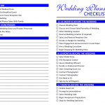 Wedding Picture Checklist