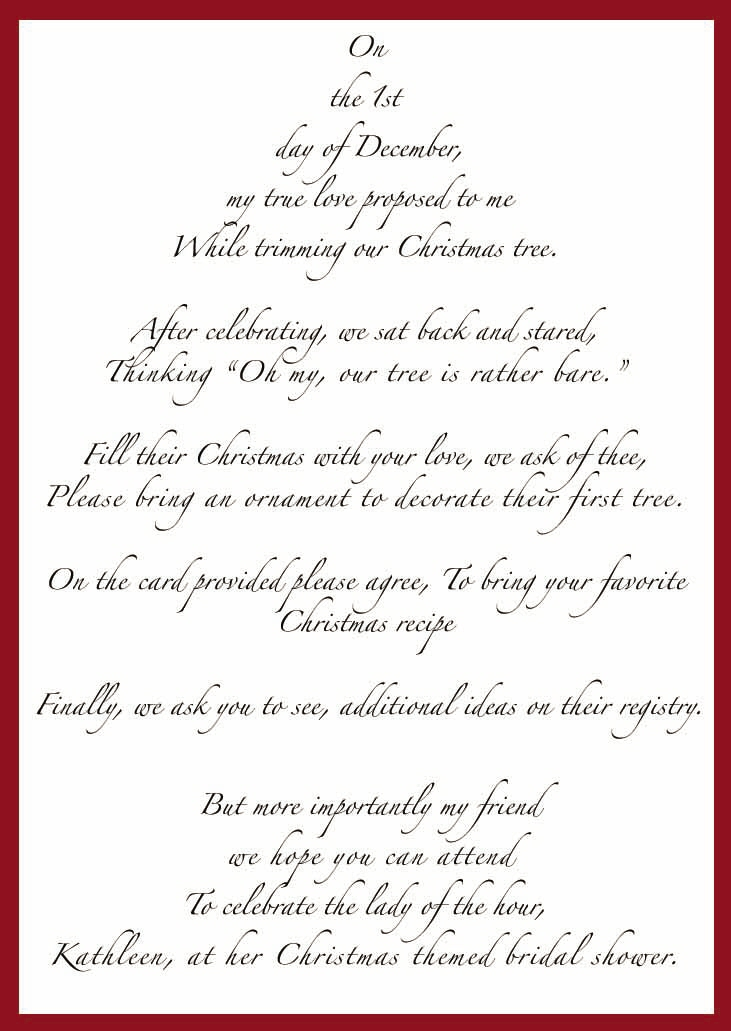Wedding Shower Poem