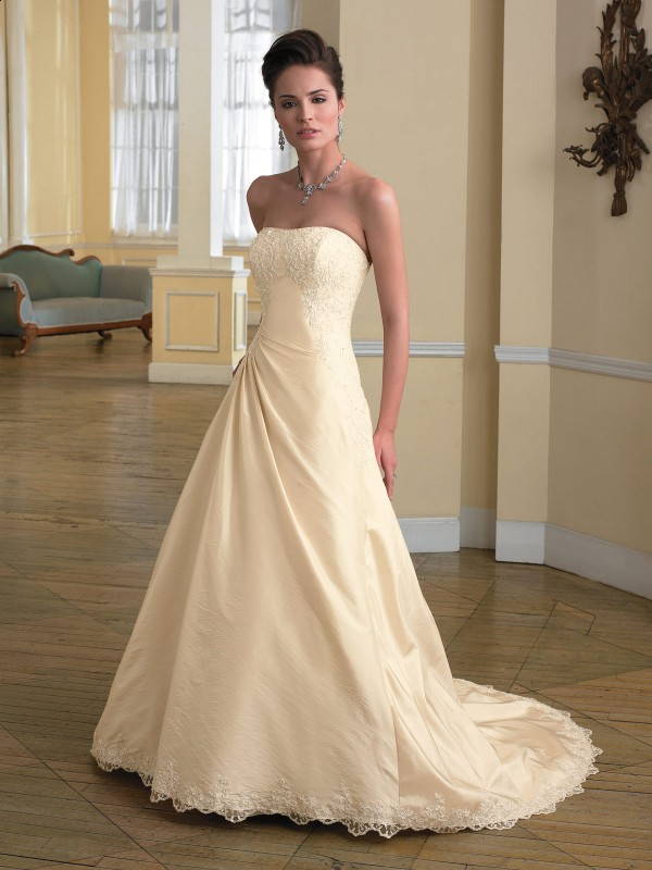 Ivory champagne wedding dress for White and champagne wedding dress