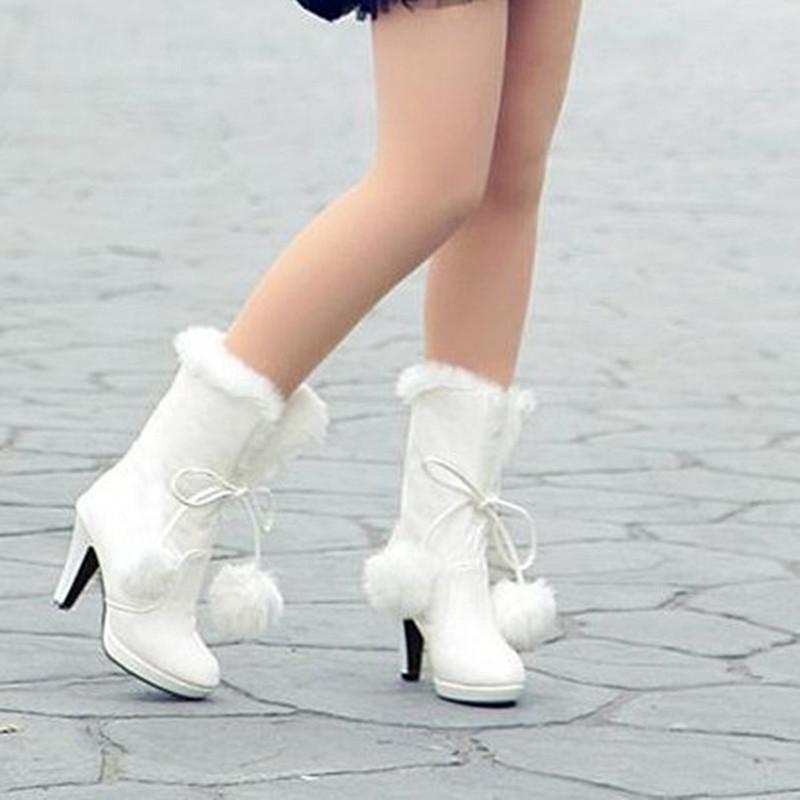White Winter Wedding Boots