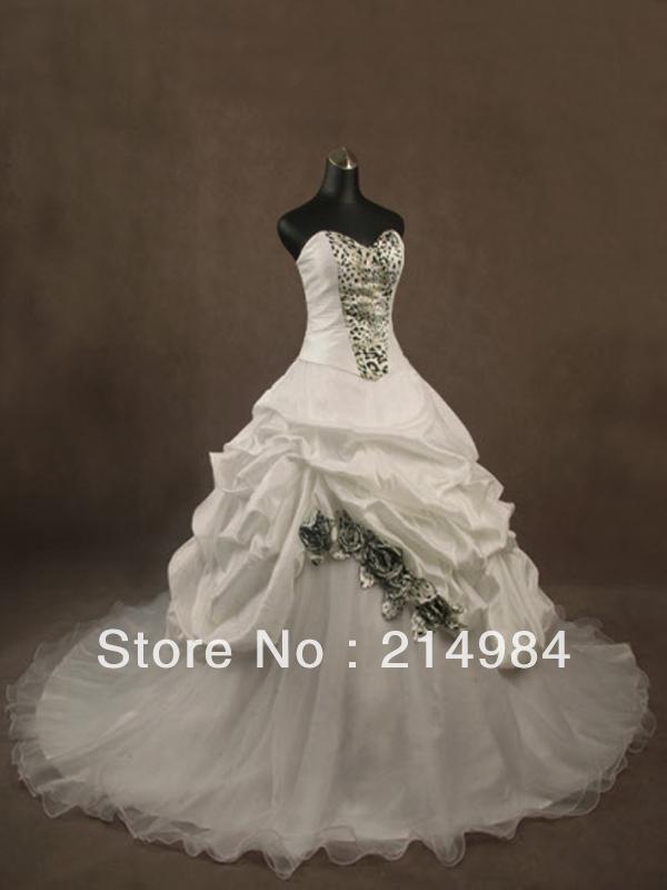 Leopard wedding dress for Zebra print wedding dress