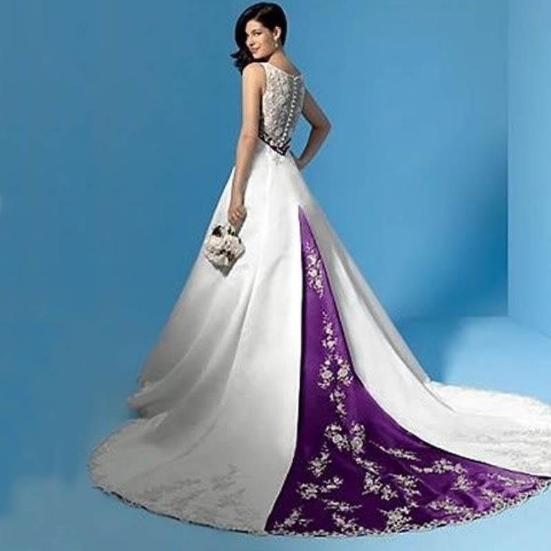White And Purple Wedding Dresses Uk | Wedding