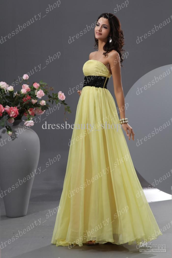 Yellow Bridal Party Dresses