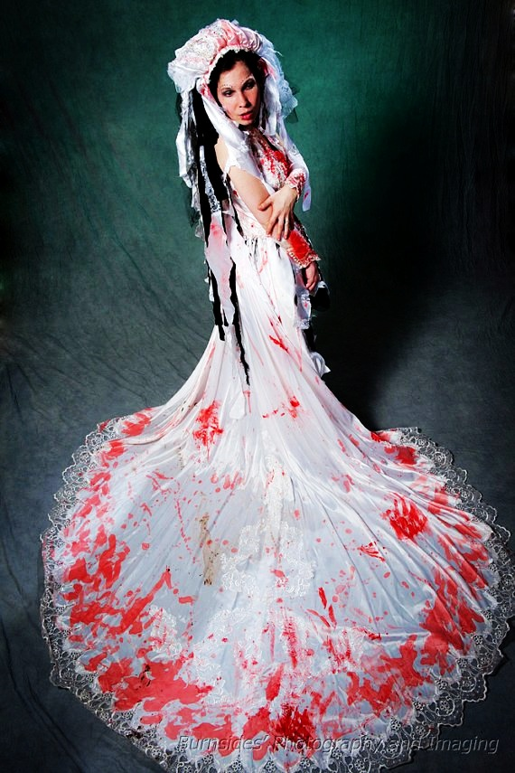 Zombie Wedding Dress Halloween Costume Gown With
