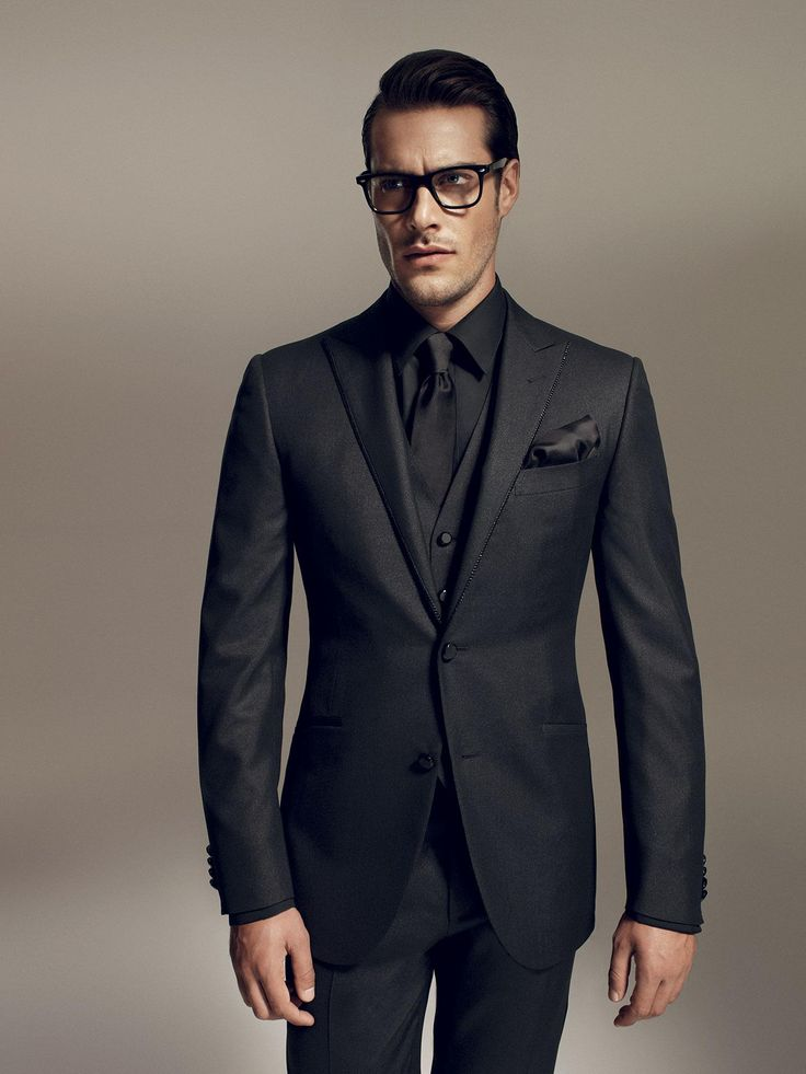 All Black Wedding Suit