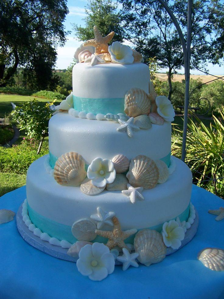 beach themed wedding cakes. Black Bedroom Furniture Sets. Home Design Ideas