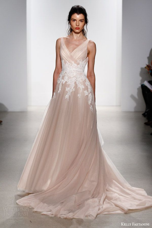 Blush Colored Wedding Dress