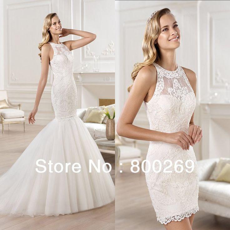 Detachable Wedding Skirt Unique Lace
