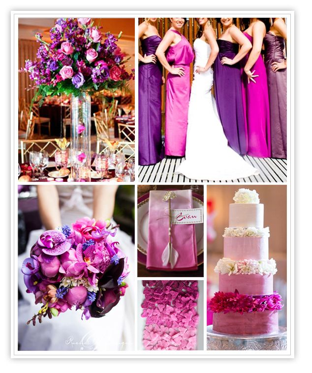 Purple And Fuschia Wedding Decorations