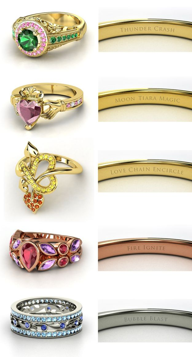 geeky rings flirty wedding but nerdy engagement
