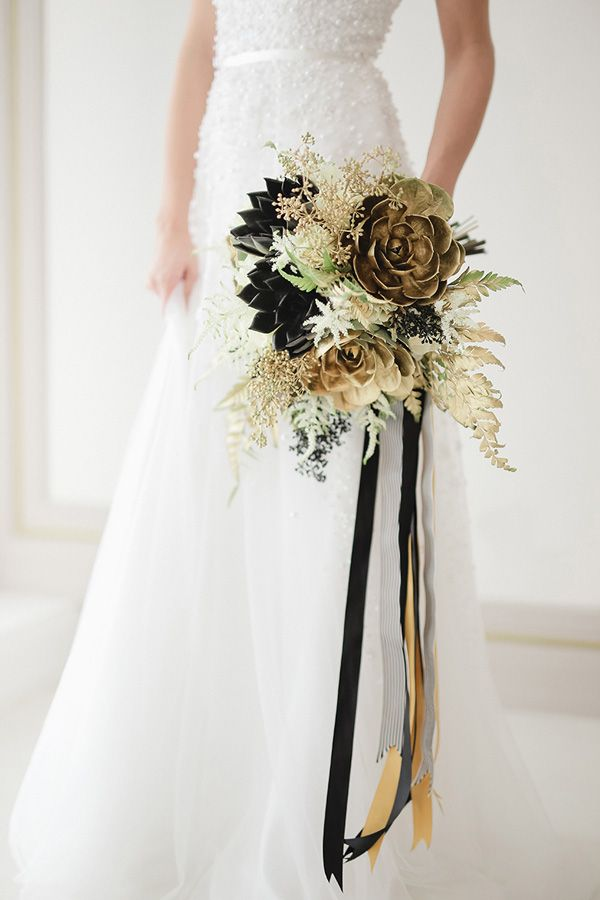 black and gold wedding bouquets. Black Bedroom Furniture Sets. Home Design Ideas
