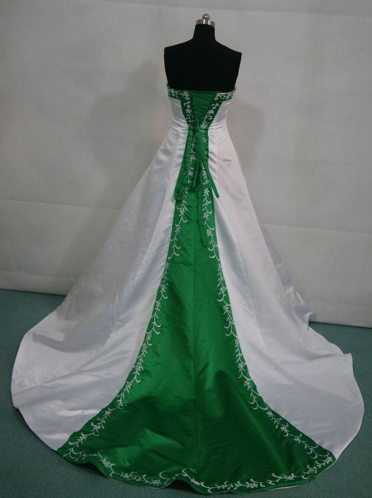 White and emerald green wedding dress 1000 ideas about green wedding dresses on emasscraft org junglespirit Image collections