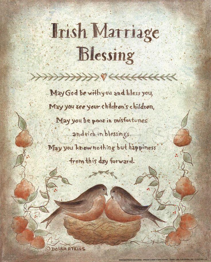 Irish Wedding Sayings And Blessings