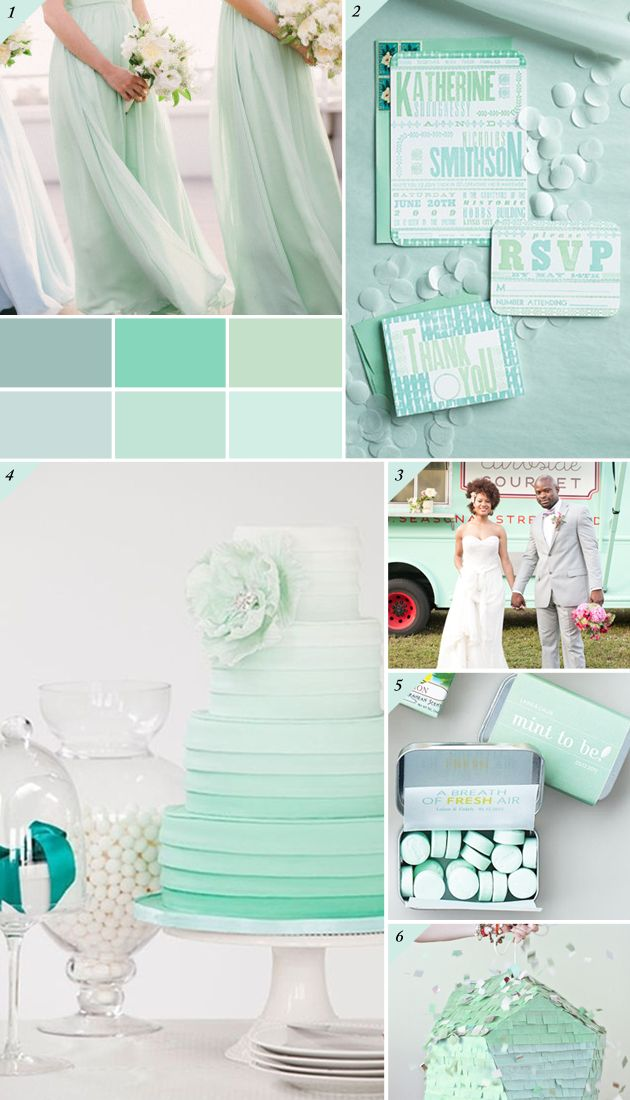 Mint And Silver Wedding