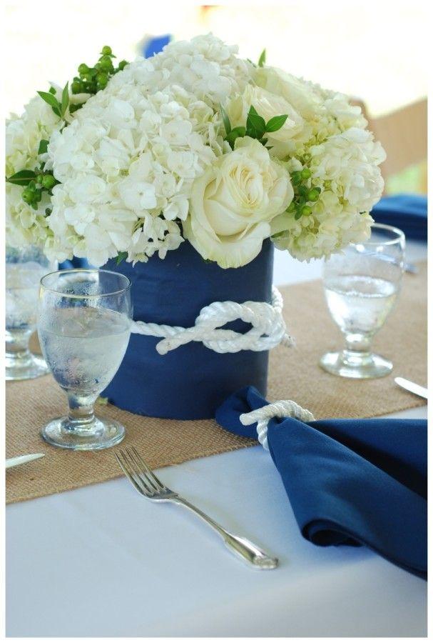 Nautical themed wedding centerpieces