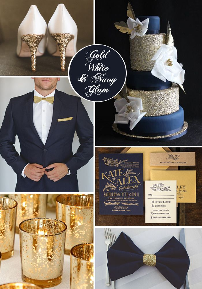 Navy And Gold Wedding Theme