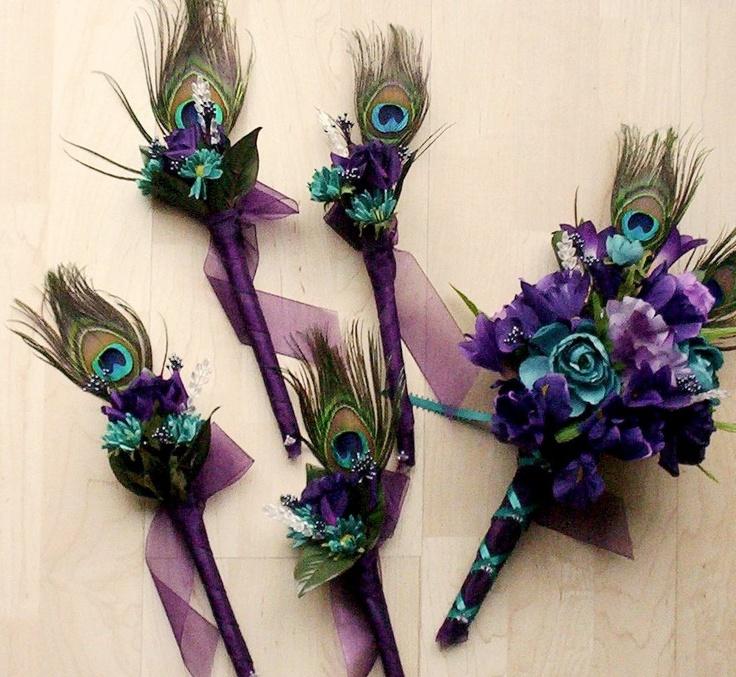 Peacock Wedding Bouquets